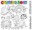 Coloring book cute bugs 1 - vector illustration. - stock photo