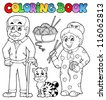 Coloring book family collection 2 - vector illustration. - stock vector