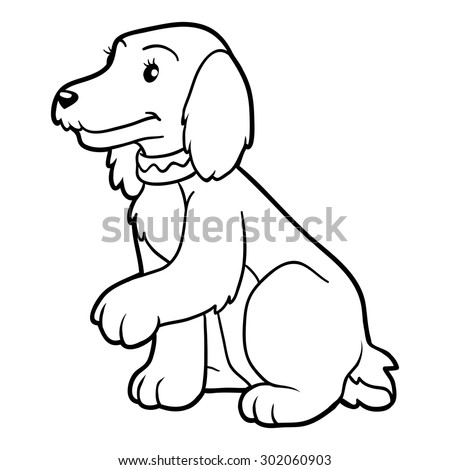 mobile cocker spaniel cartoon coloring pages