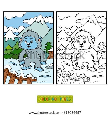 Coloring Book Children Little Lion Africa Stock Vector 429380626