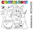 Coloring book Halloween character 2 - vector illustration. - stock vector
