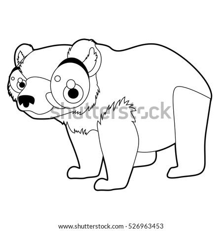Coloring Cute Cartoon Animals Collection Cool Stock Vector