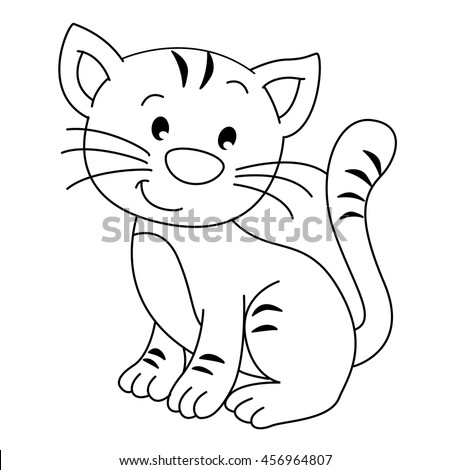 coloring pages wild animals little cute stock vector 437879857 shutterstock. Black Bedroom Furniture Sets. Home Design Ideas