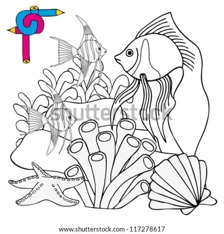 Ocean Plants Seaweed Grass Coloring