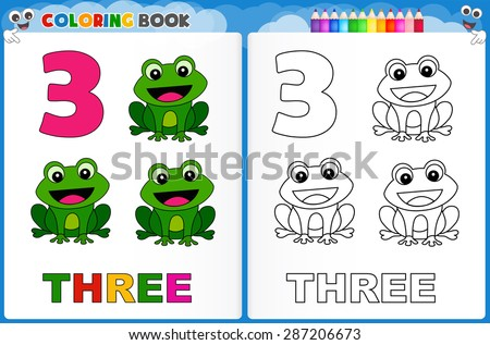 kids worksheet counting exercises count match stock illustration 333079625 shutterstock. Black Bedroom Furniture Sets. Home Design Ideas