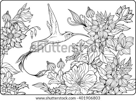 tet coloring pages for kids | Coloring Page Enchanted Fairy Stock Illustration 442203622 ...