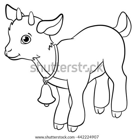 Cartoon Farm Animals Kids Little Cute Stock Vector