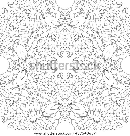 coloring pages adults coloring bookdecorative hand stock vector on nature motifs coloring book