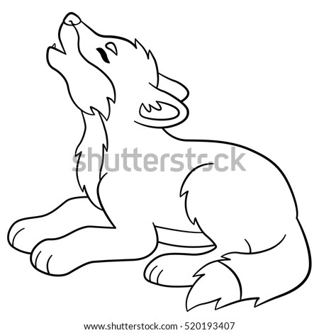 Coloring Page Young Deer Available Colored Stock Vector ...