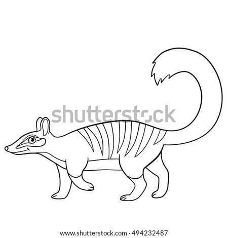 Vector Isolated Coloring Book Tiger Kids Stock Vector 573605053