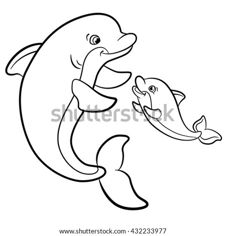 76 Baby Dolphin Coloring Pages