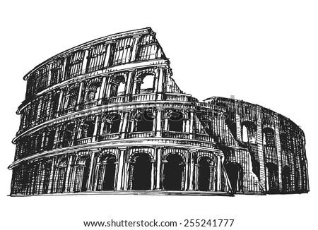 roman centurion soldier sketch vector illustration stock vector