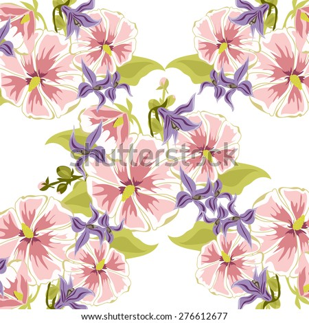 Colourful flower background