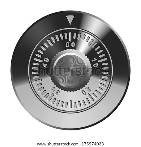 Combination lock, realistic vector illustration.