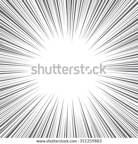 radial speed lines graphic effects use stock vector