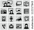 Communication icons - stock photo