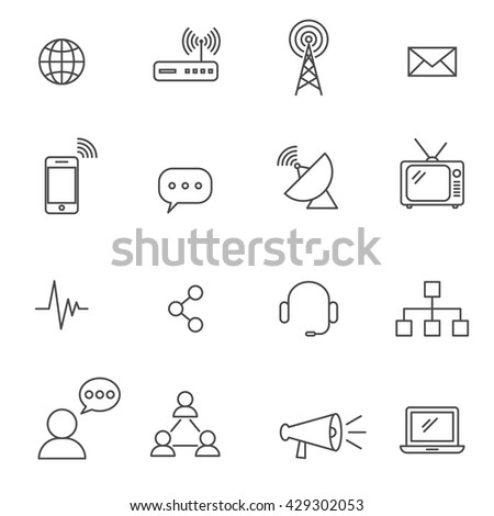 Communication line icon vector EPS10
