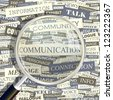 COMMUNICATION. Word collage. Vector illustration. - stock photo