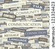 COMMUNICATION. Word collage. Vector seamless illustration. - stock photo