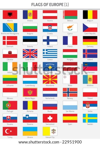 Complete Flags of European States