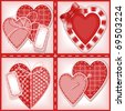complete set of cards. Valentines Day. heart 1. Similar in a portfolio - stock vector