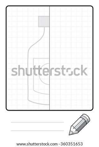 Complete the Symmetrical Drawing: Bottle (one page task)