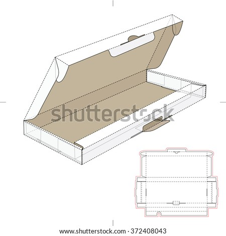 Computer Keyboard Box with Die Cut Template