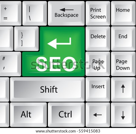 Computer Keyboard with SEO - Search Engine Optimization