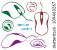 Computer mouse icons - stock vector