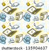 computer seamless pattern - stock vector