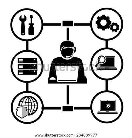 computer technician vector icon stock vector 170425964