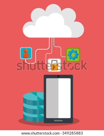 Computing security system graphic design, vector illustration
