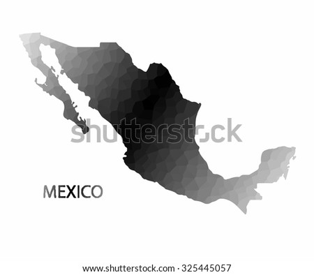 Concept map of Mexico, vector design Illustration.