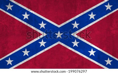Confederate, Confederacy Flag on concrete textured background