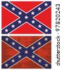 Confederate Flag. Grunge Rebel flag. - stock photo