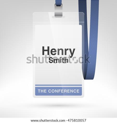conference badge name tag placeholder blank 475810048 shutterstock. Black Bedroom Furniture Sets. Home Design Ideas