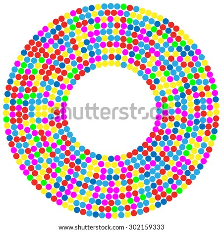 Confetti Background circle. Illustration Vector EPS10