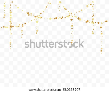 gold star confetti celebration isolated on stock vector