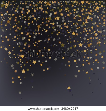 Confetti, New Year's celebration - vector background