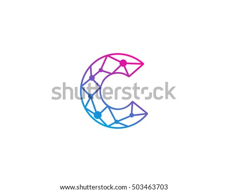 connect line letter c logo design stock vector 503463703 shutterstock. Black Bedroom Furniture Sets. Home Design Ideas