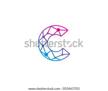 connect line letter c logo design stock vector 503463703 shutterstock. Black Bedroom Furniture Sets. Home Design Ideas