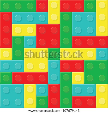 Construction blocks (removable pieces). Vector illustration