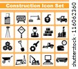 construction, engineering icon set - stock vector