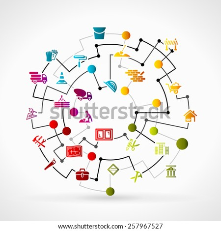 Smart home internet things concept cloud stock vector for Contractors network