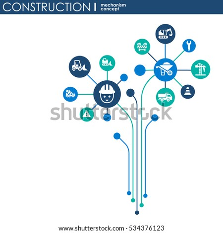 Abstract seo background connected circles integrated stock for Contractors network