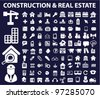 construction & real estate icons, vector - stock vector