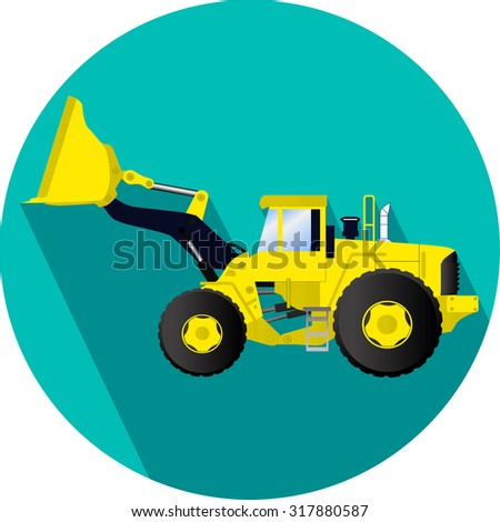 Construction vehicle illustration Loader
