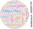 CONSULTING. Word collage on white background. Vector illustration. - stock photo