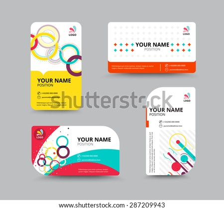business greeting card template design introduce stock vector 294262547 shutterstock. Black Bedroom Furniture Sets. Home Design Ideas
