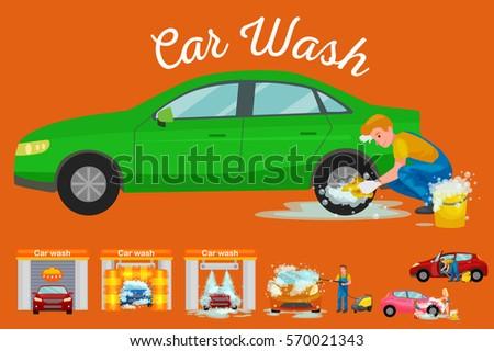 contactless car washing services bikini model stock vector 562386055 shutterstock. Black Bedroom Furniture Sets. Home Design Ideas